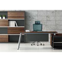 钢架班台|钢架会议桌|钢木办公桌隔断|现代简约风格办公空间整体家具系列