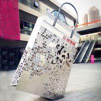 创意手提包不锈钢雕塑 商业街装饰