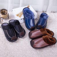 2017年新款韩版情侣居家拖鞋男女保暖防滑时尚月子鞋冬季棉拖鞋