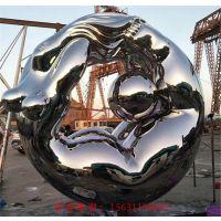 不锈钢雕塑大型摆件定制抽象不锈钢雕塑_副本