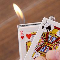 愚人节雪茄厨房工具电击打火机创意打火机丁烷卷烟塑料打火机扑克
