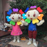卡通人偶服装花朵人偶服饰幼儿园活动庆典表演服成人行走演出服