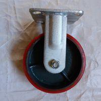 工业PU定向轮销售@建德工业PU定向轮销售@5寸铁芯聚氨酯脚轮