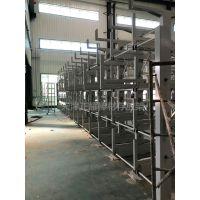 成都重型悬臂货架 伸缩式管材货架设计 激光切割机配套设备