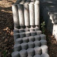 河道仿树皮栏杆 仿木护栏 城市绿化树木护树桩 公园绿化防护桩