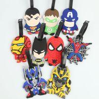 复仇者联盟钢铁侠变形金刚卡通创意硅胶行李牌挂件吊牌旅行托运牌