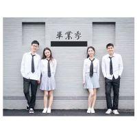学生班服西装套装衬衫大学校服男女毕业照演出服