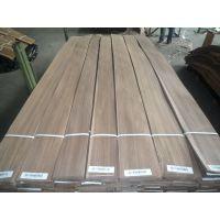 厂家直供黑胡桃直纹木皮 贴密度板免漆木饰面板木皮