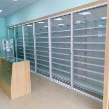 药店展示柜西药药品货架阴凉区单面架中岛双面货架药妆展架中药柜