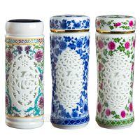 创意图案学生陶瓷保温马克水杯可定制LOGO带盖镜面杯办公家用礼品