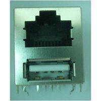 兴伸展电子RJ45插座/不带网络滤波器/连接器TAB-DOWN圆针系列/全塑产品RJ45连接器网络插