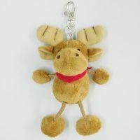 厂家定制毛绒钥匙扣公仔玩具包包挂件外贸动物卡通毛绒公仔钥匙扣