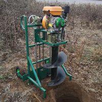 立柱水泥电线杆挖坑机 佳鑫牌汽油子钻眼机 大马力打洞机