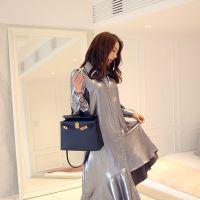 羽纱国际品牌尾货女装混批折扣女装 品牌尾货批发市场深蓝色旗袍唐装