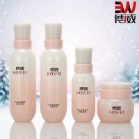 高档化妆品套装包装玻璃瓶子水乳爽肤水膏霜瓶金色瓶子现货