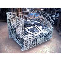 非标定制仓库笼深圳 厂家,五金冲压件周转铁笼,带中空板板物流铁笼