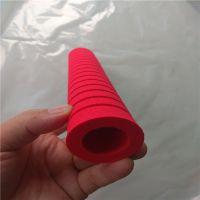 厂家订做 双色橡塑海绵手柄套 东莞异形打磨eva海绵握把套加工