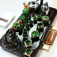 茶具电磁炉四合一实木茶盘功夫茶带套装整套茶台排水家用荼具