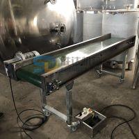 胜达sd-pdssj电动PVC速冻食品传输机流水线防滑爬坡输送机传送机械手输送皮带