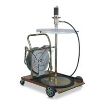 供应自动气动插桶油泵 带10米卷盘自动稀油泵