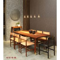 烟台新中式风格餐厅的特点-烟台阅梨实木家具-龙口新中式餐厅