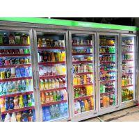 大容积冷柜 超市五开门冷饮冷藏柜 5门分体饮料冷柜 五门带空调机价格 含安装