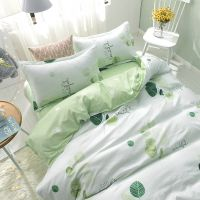 学校宿舍床单被套三件套大学生女寝室单人床品四件套简约夏季