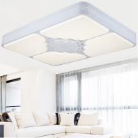 雷.士现代简约LED吸顶灯 长方形客厅灯 创意书房卧室照明 灯具灯