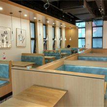 珠海美食餐厅特色卡座沙发桌子定做,时尚餐饮家具更新换代