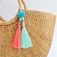 韩版创意时尚流苏毛球钥匙扣 女生包包汽车挂饰饰品 挂件厂家直销