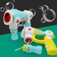 儿童玩具实色泡泡枪 大号全自动吹泡泡 电动泡泡枪批发