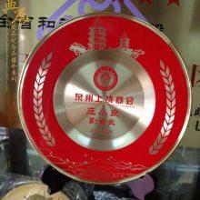 优秀合作伙伴纪念盘 水利集团30周年礼品 锦州铁路开通纪念品