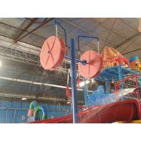 旋转双水轮儿童戏水小品/水上乐园设备生产厂家