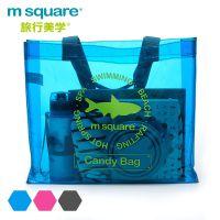 m square 沙滩包 游泳包 PVC透明防水包沙滩度假温泉包 出游旅行