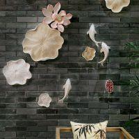 餐厅壁饰墙饰创意客厅背景墙上装饰品鱼挂件中式玄关过道墙面壁挂