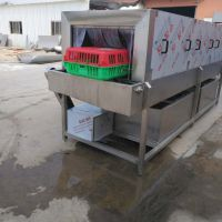 汇康牌养鸡笼清洗设备 旋转过滤洗笼机 循环用水洗筐机