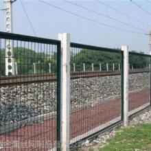 高铁防护护栏 铁路线路防护栅栏厂家 绿色隔离栅优盾供应