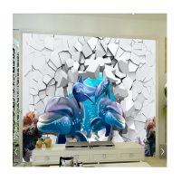 3D广东 雅居阁 瓷砖电视背景墙 专业定制 批发 立体海洋世界 背景