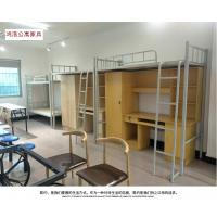 南昌连体上床下桌学生组合公寓床 员工宿舍钢制高低双层公寓床厂家