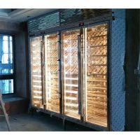 豪华中式不锈钢恒温酒柜 客厅红酒柜图片报价