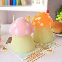 118 可爱蘑菇牙签盒 自动牙签筒 牙签罐 创意居家牙签瓶