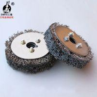 厂家直销批发钢丝轮打磨橡胶钢丝轮胎修补平型钢丝轮打磨花头