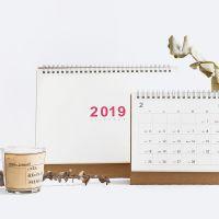 2019年无印风系列台历 暮光之城 时尚创意日程计划备忘DIY日历4款