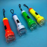 大号水晶电筒 便携式旅行电筒 可更换电子 1元地摊货源赠品小礼品
