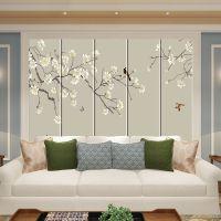 新中式软包背景墙客厅房间卧室床头影视电视背景墙图案皮革硬包