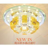 LED吸顶灯具过道灯新款方形高档水晶过道灯水晶吸顶灯厂家批发