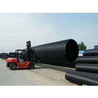 圣大管业钢带增强聚乙烯螺旋波纹管市政水利排污钢塑复合管厂家直销