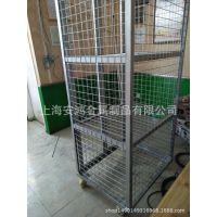 上海移动折叠仓库仓储笼 不锈钢金属铁笼 货物周转笼车