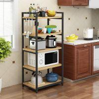 家用厨房置物架落地式多层收纳架子收纳架省空间电器微波炉调味