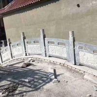 雕刻各种 图案石栏板 公园河道 石护栏 来图定制加工